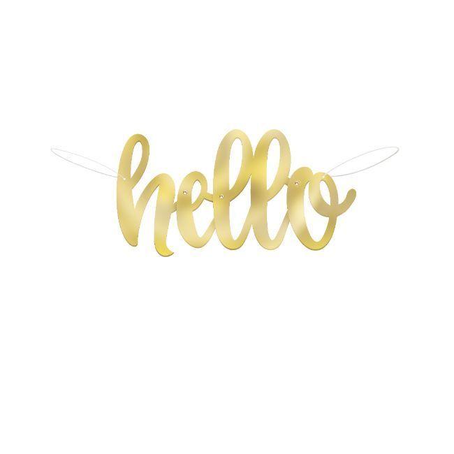 Unique Hello Baby Script Banner