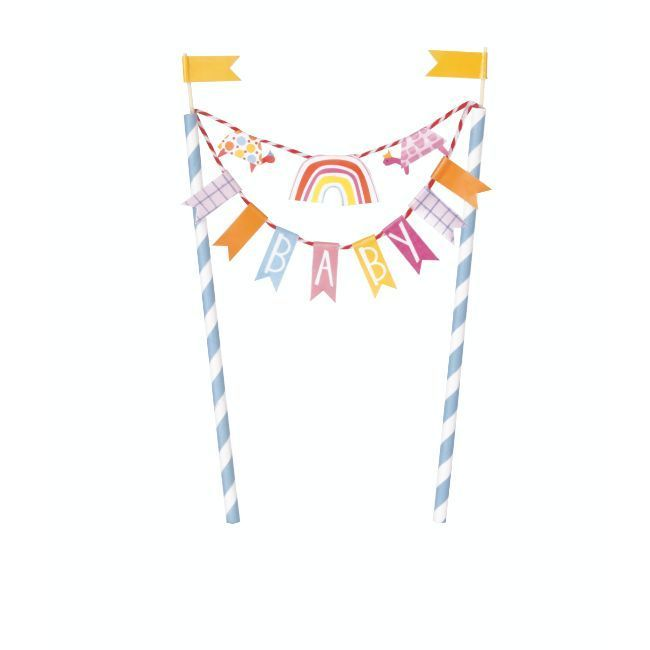Unique Zoo Bunting Cake Topper