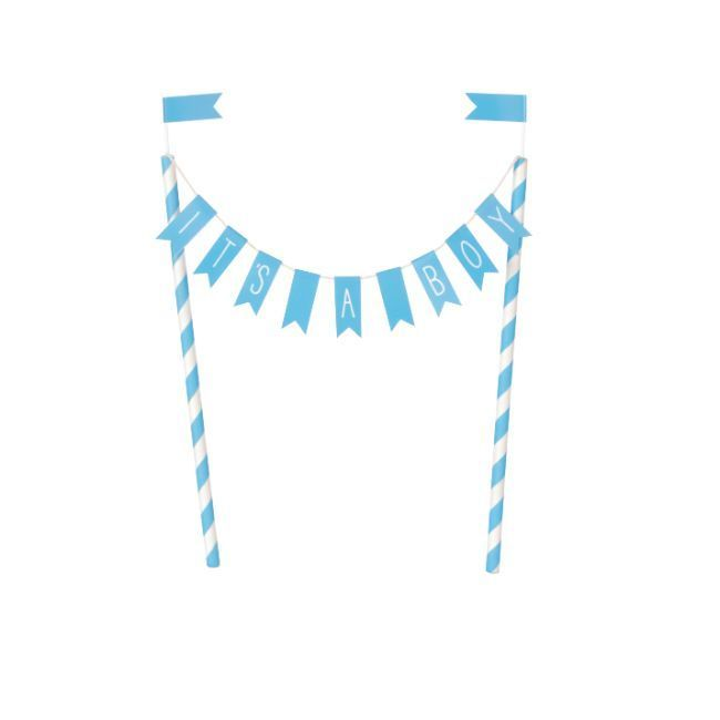 Unique It's A Boy Baby Shower Bunting Cake Topper