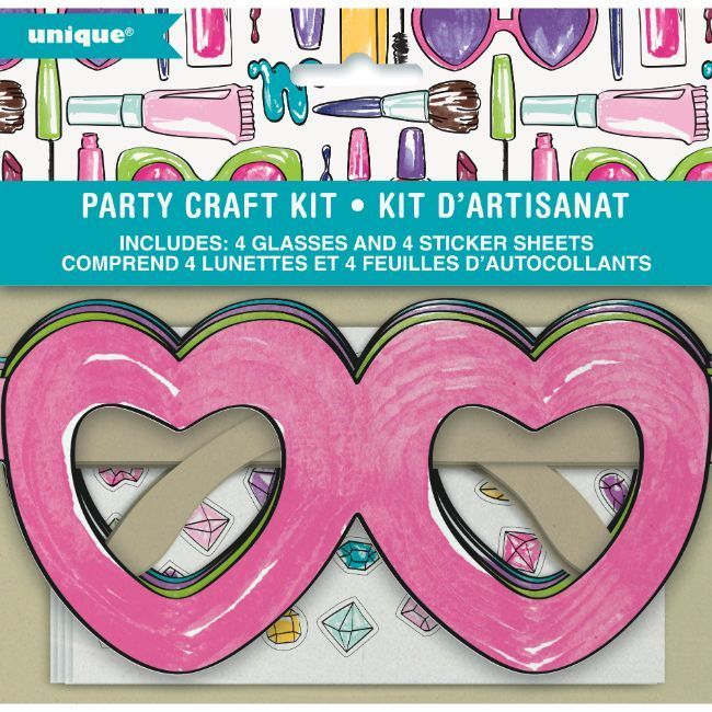 Unique Spa Party Day Heart Glasses Party Craft Kit