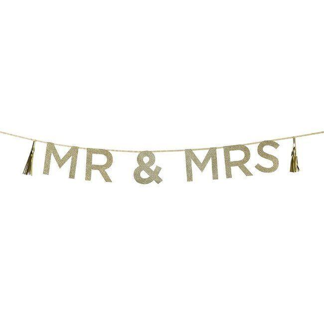 Talking Tables Glitterred 'Mr & Mrs' Banner