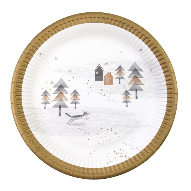 Talking Tables Nordic Christmas Paper Plates