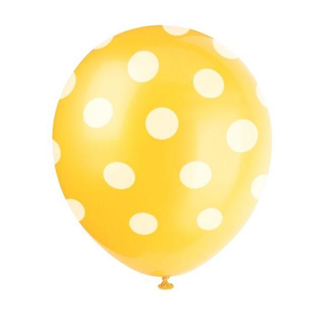 Unique Yellow Balloons Polka Dots