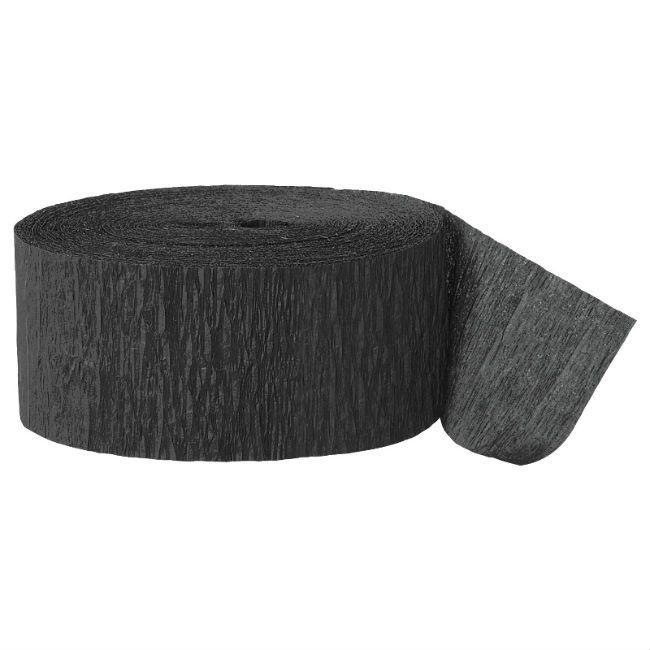 Unique Black Crepe Streamer