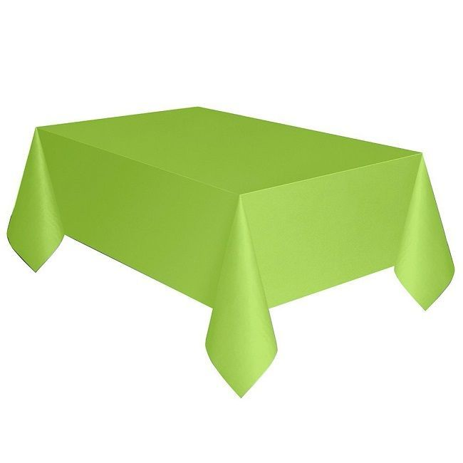 Unique Neon Green Plastic Table Cover