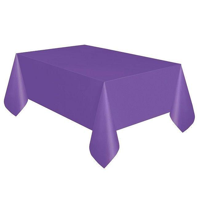 Unique Neon Purple Plastic Table Cover