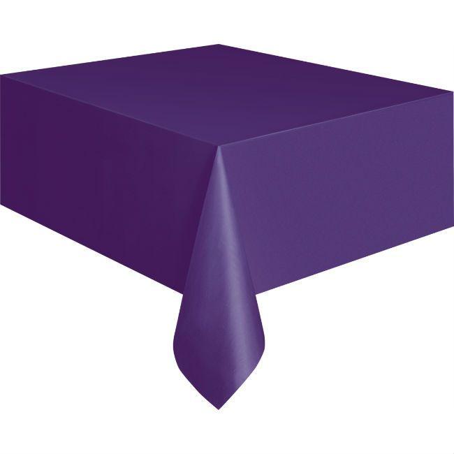 Unique Deep Purple Plastic Table Cover