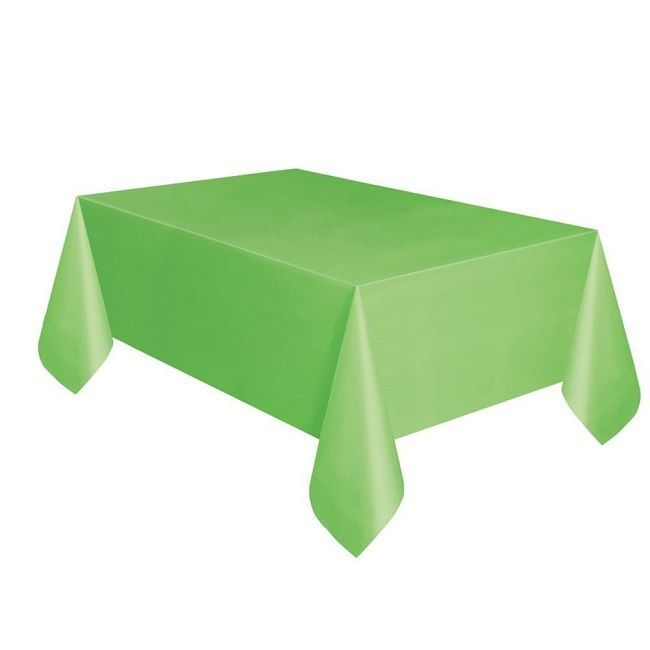 Unique Lime Green Plastic Table Cover