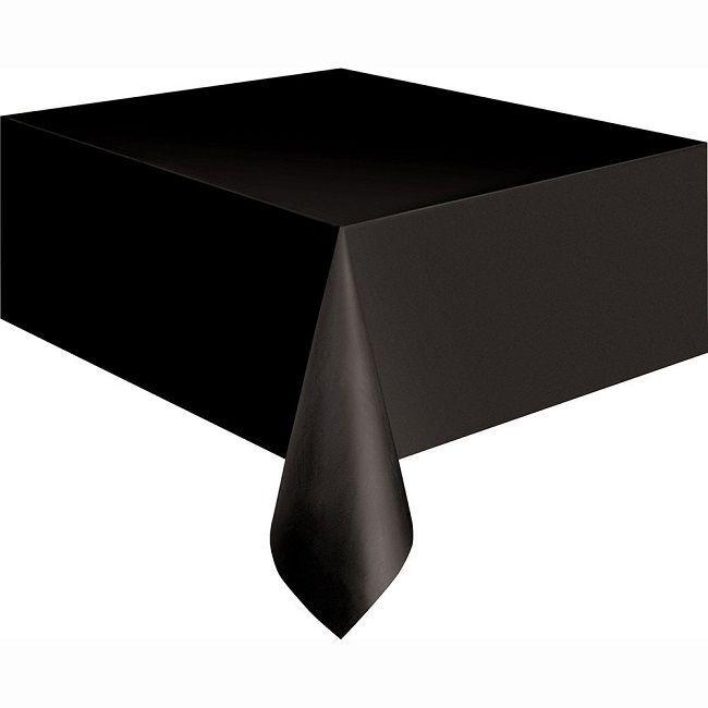 Unique Black Plastic Table Cover