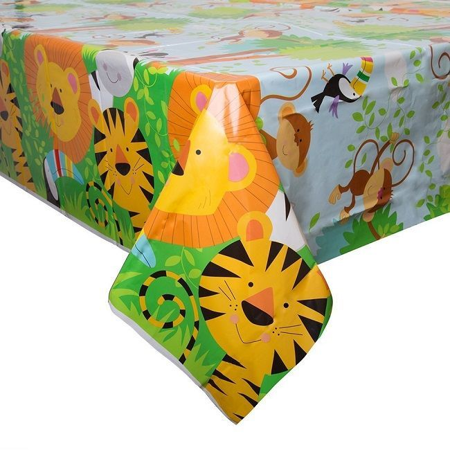 Unique Animal Jungle Plastic Table Cover