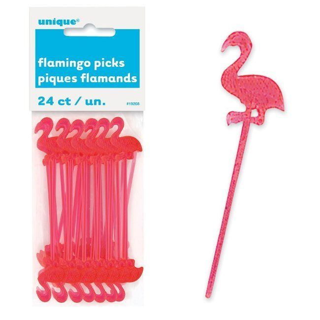 Unique Flamingo Cocktail Picks