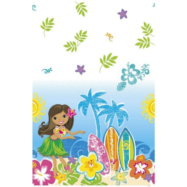 Unique Hula Beach Party Table Cover