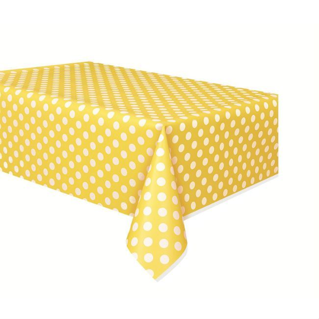 Unique Yellow Polka Dot Table Cover