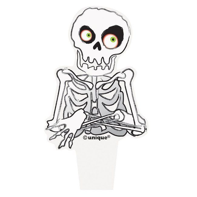 Unique Skeleton Halloween Cupcake Toppers