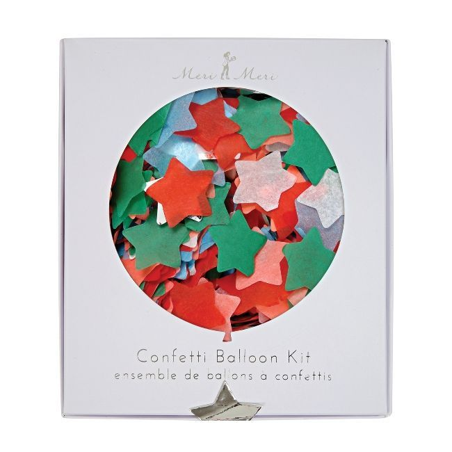 Meri Meri Star Confetti Christmas Balloon Kit