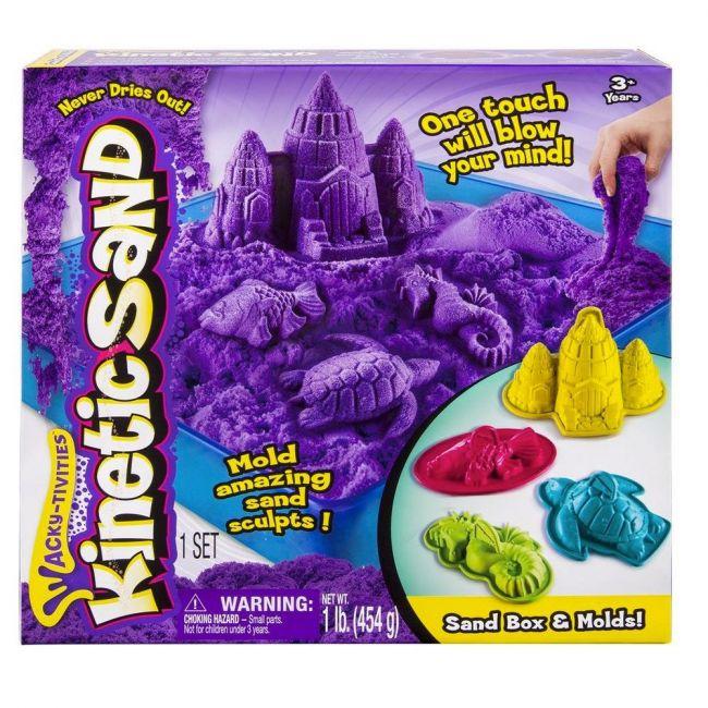 Kinetic Sand - Sand Box and Molds - Purple