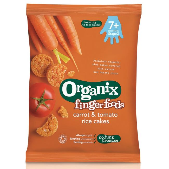 Organix Carrot & Tomato Rice Cakes - 50g