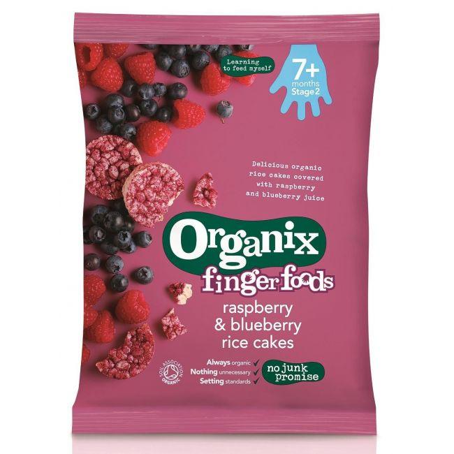 Organix Raspberry & Blueberry Rice Cakes - 50g