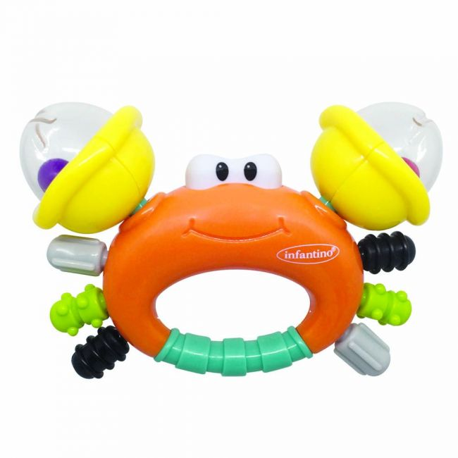 Infantino - Sand Crab Rattle & Teether