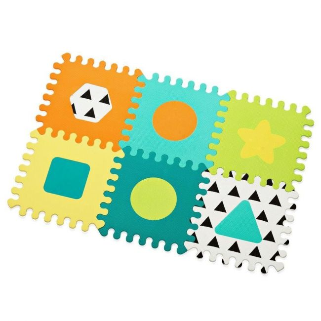 Infantino Gaga - Soft Foam Puzzle Mat (6 Pcs) Toy