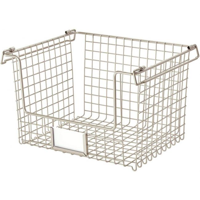 Interdesign - Classico Stackable Storage Basket With Handles For Pantry Large