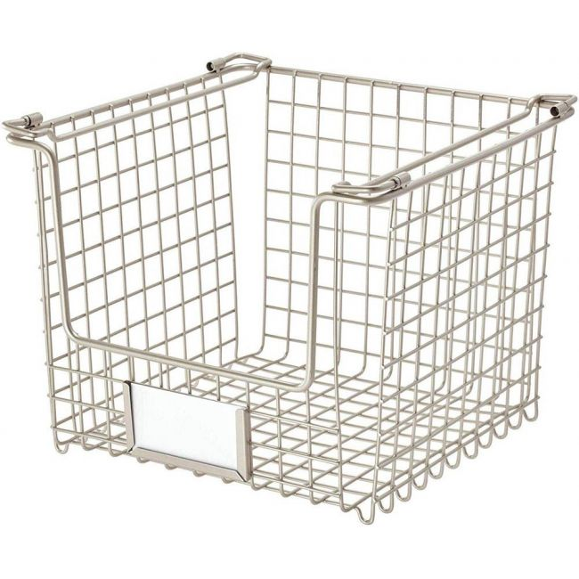 Interdesign - Classico Stackable Storage Basket With Handles For Pantry Medium