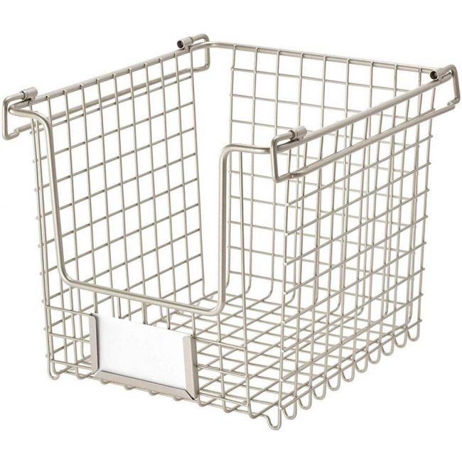 Interdesign - Classico Stackable Storage Basket With Handles For Pantry Small