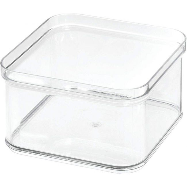 Interdesign - Crisp Stackable Refrigerator And Pantry Bin, Bpa Free Plastic, Clear