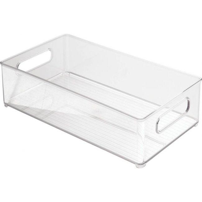 Interdesign - Refrigerator And Freezer Storage Organizer Bins For Kitchen, Clear