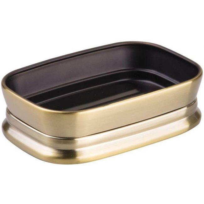 Interdesign - Sutton Bar Soap Dish For Bathroom Vanities, Kitchen Sink, Soft Brass
