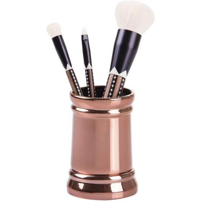 Interdesign - Sutton Tumbler Cup For Bathroom Vanity Countertops, Rose Gold