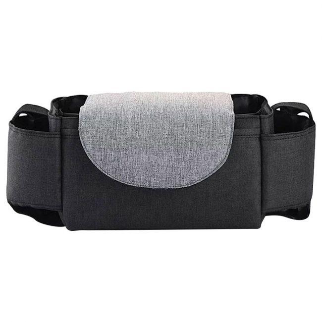 Pikkaboo - HookandHoop Universal Waterproof Stroller Organizer - Grey and Black