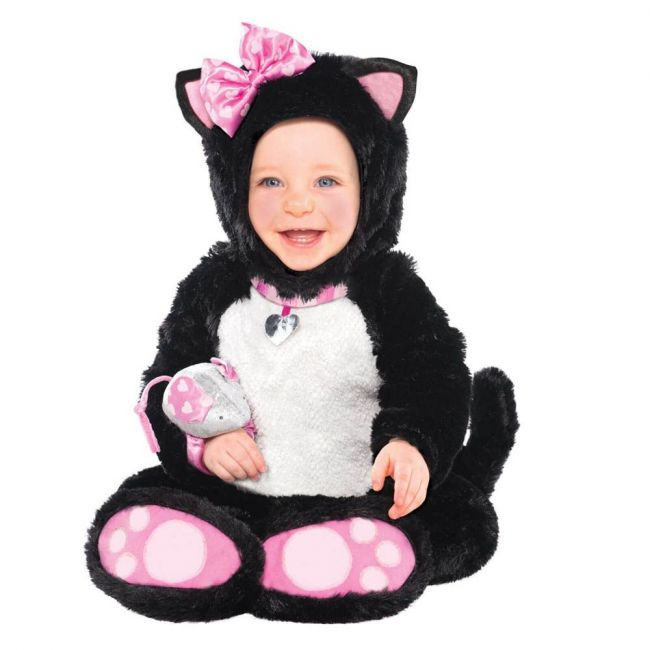 Itty Bitty Kitty Costume Includes Jumpsuit Hood Mouse Rattle Booties
