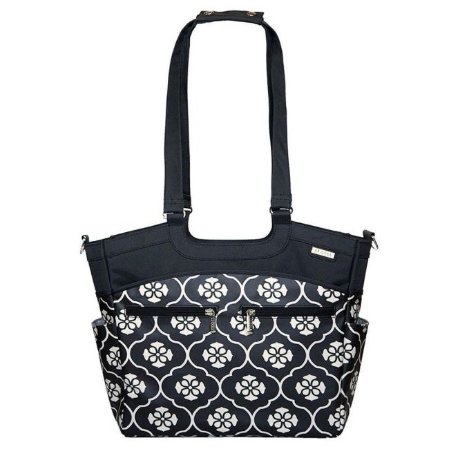 JJ Cole - Collections Camber Diaper Bag - Black Floret