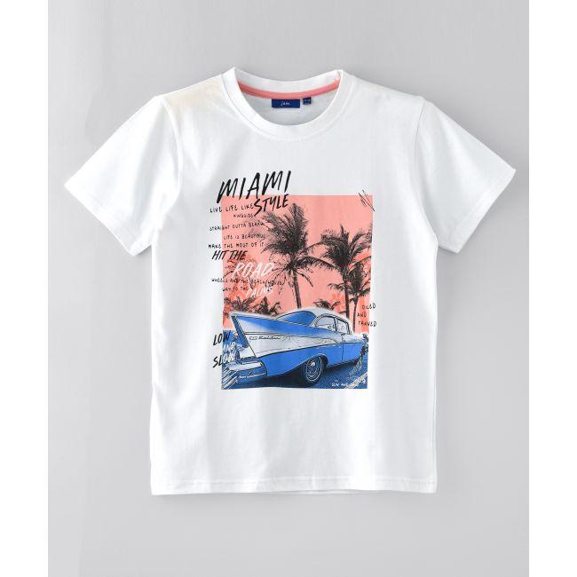 Jam -  Crew Neck Miami Style T Shirt White