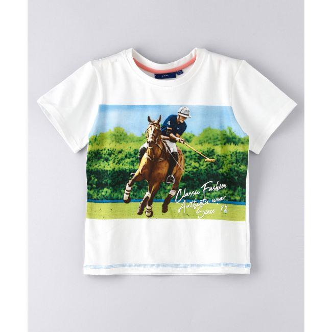 Jam -  Digital Print Single Jersey T Shirt White
