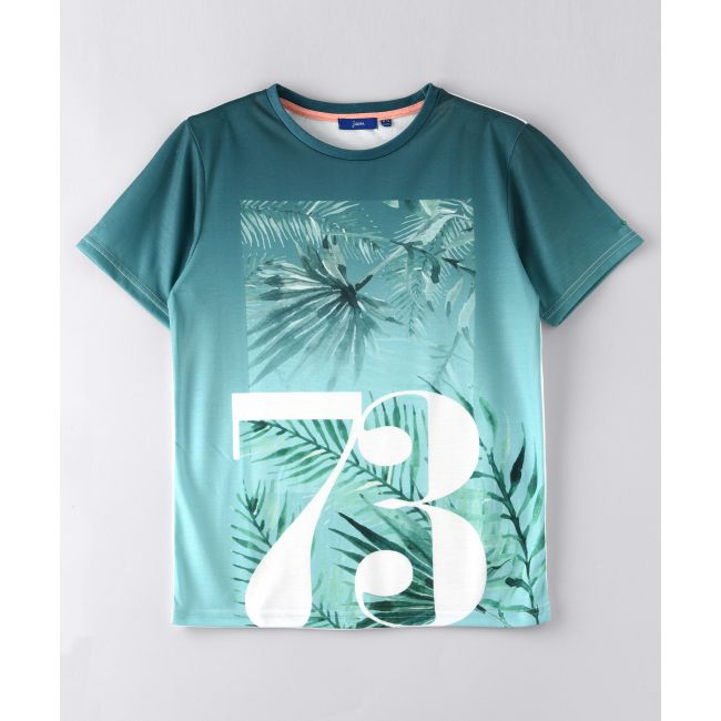 Jam -  Short Sleeve Round Neck T Shirt With 73 Number Print Green