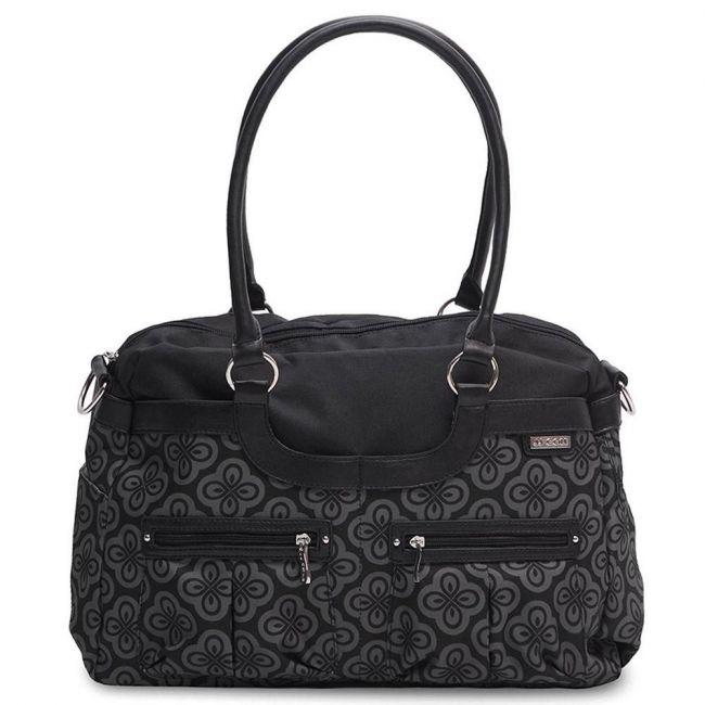 JJ Cole Satchel Diaper Bag - Charcoal Infinity
