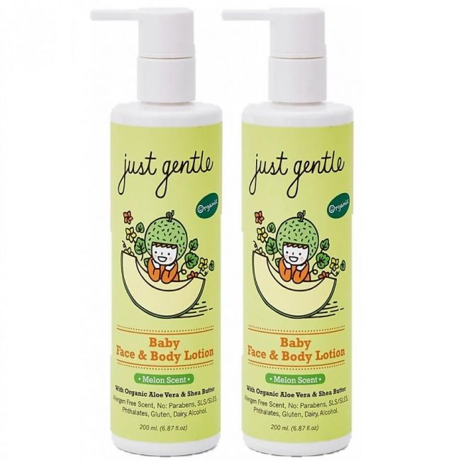 Just Gentle Baby Face & Body Lotion Melon -Twin Pack