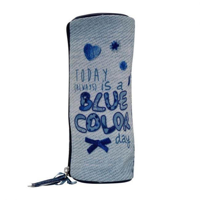 K2B Round Blue Color Pencil Case