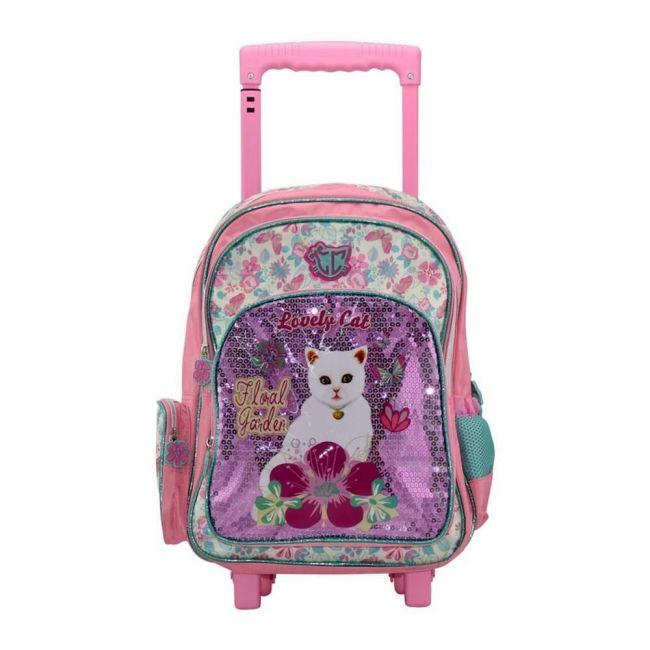 K2B 16 Inch Lovely Cat Girls Trolley Bag