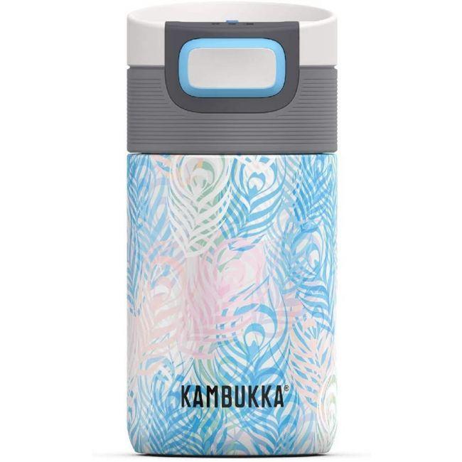 Kambukka - Etna Coffee & Tea Mug - 300 Ml - Peacock - 3 In 1 Lid - Snapclean Technologie
