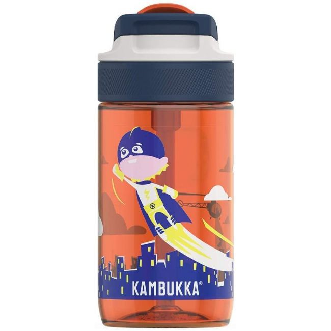 Kambukka - Lagoon Water Bottle With Spout Lid - 400 Ml - Flying Superboy