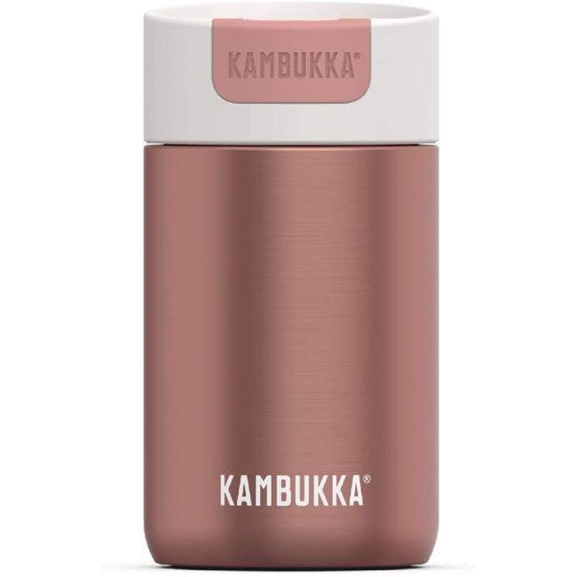 Kambukka - Olympus Coffee & Tea Mug - 300 Ml - Misty Rose - Switch Lid - Snapclean Technologie