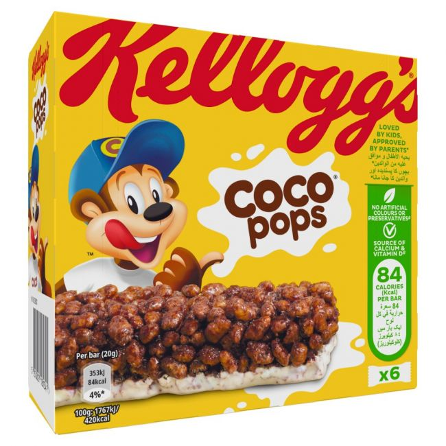 Kellogg's - Coco Pops Cereal Milk Bar - 6pcs - 20g