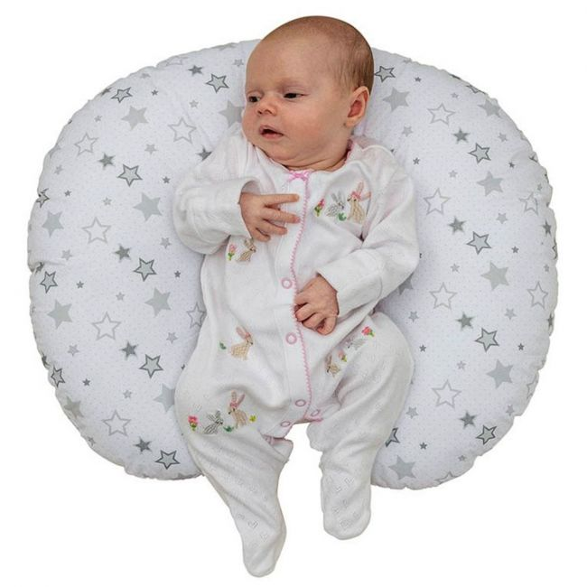 Kinder Valley - Donut Baby Pillow - Silver Star