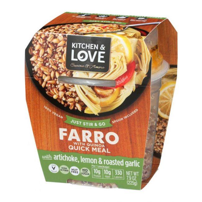 Kitchen love cucina & amore - Farro RTE Meal -Artichoke, Lemon & Roasted Garlic