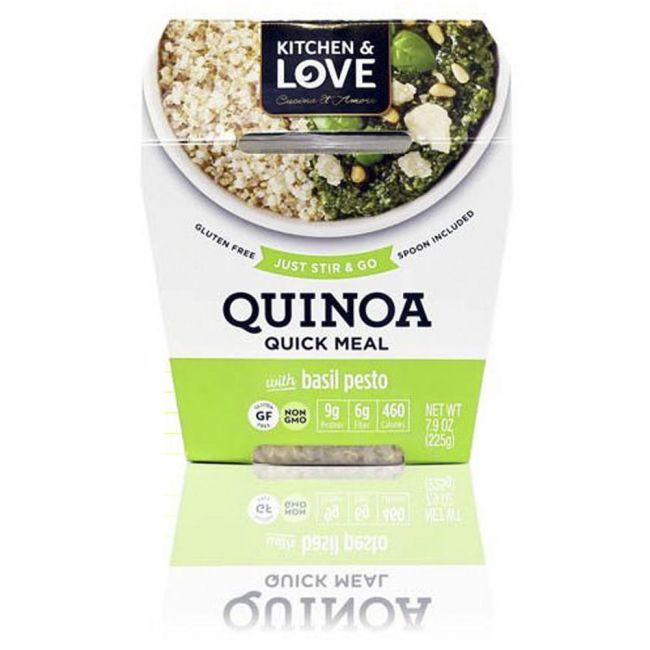 Kitchen love cucina & amore - Quinoa RTE Meal - Basil Pesto