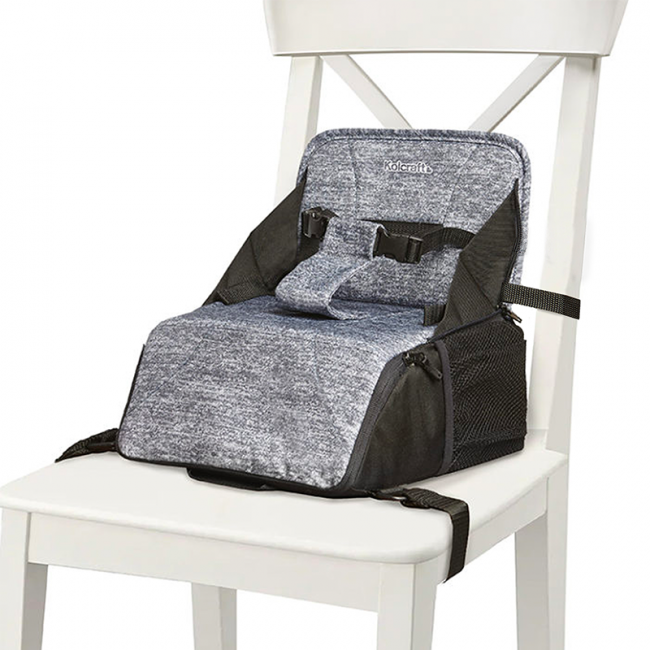 Kolcraft - Travel Duo 2 in 1 Portable Booster Seat and Diaper Bag
