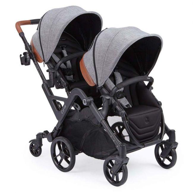 Kolcraft - Contours Curve Double Stroller - Graphite Grey